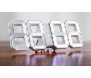 Kibardin White & White Digitales LED Uhr - Weiss (Lieferbar ab ende Oct 2016)