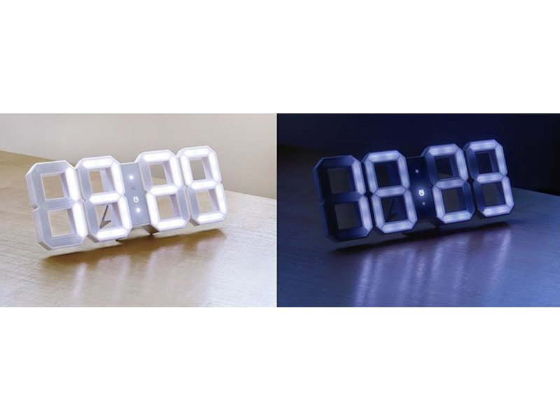 Kibardin White & White digital LED clock - White Edition (available late Oct 2016)