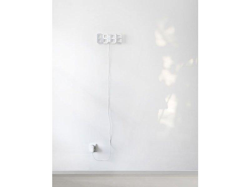 Kibardin Kibardin White & White Alarm klok - WIT