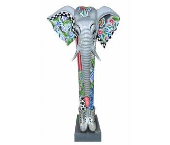 Toms Drag Elephant Alexander, Silver Line - XXL