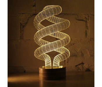 Bulbing Light Spiral illusion light in 2D