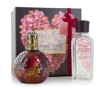 Ashleigh & Burwood Giftset geurlamp Rosebud + essential oil
