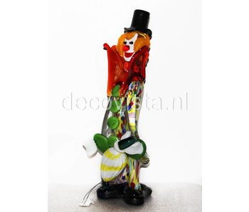 Vetri di Murano Clown with umbrella, Murano glass