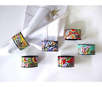 Toms Drag juego de anillo de servilleta - 6 piezas