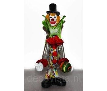Vetri di Murano Clown with ball of Murano glass