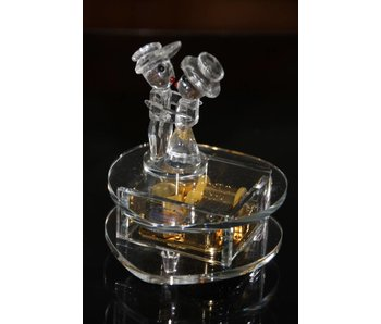 Kristallen speeldoos bruidspaar