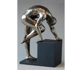 BodyTalk Skulptur Bodybuilder, Exercising Mann