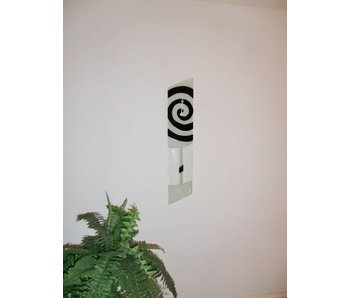 Carneol Wall clock a-symmetrical with clapper