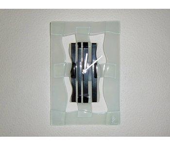 Carneol Wanduhr von Glas - Stripy