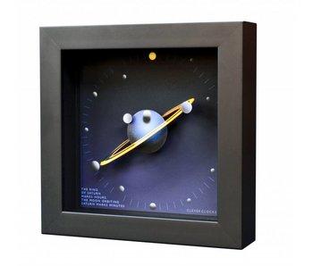 CleverClocks Kunst wandklok of tafelklok Saturn