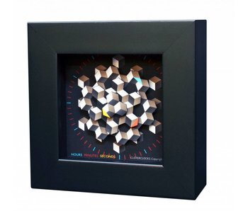 CleverClocks Kunst wandklok of tafelklok Hexagon