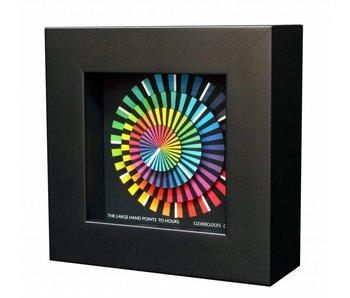 CleverClocks Kunst wandklok of tafelklok Spectrum