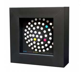 CleverClocks Uhr Dot-Matrix Wanduhr, Tischuhr