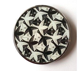 Mouseion vidrio de bolsillo - Birds-Fishes MC Escher