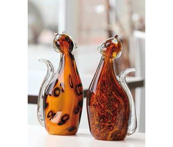 Vetro Gallery Set glass cats