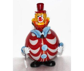 Vetri di Murano Clown met ronde buik- muranoglas