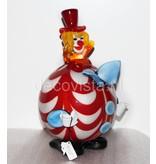 Vetri di Murano Clown with round belly - Murano glass