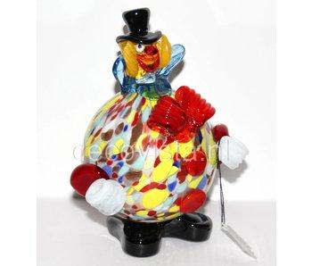 Vetri di Murano Clown met bolle buik - muranoglas