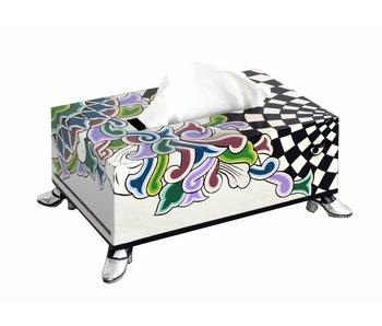 Toms Drag Tissue box - Silver Line