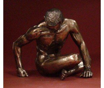 BodyTalk Bodybuilder-Skulptur sitzend nackt - L