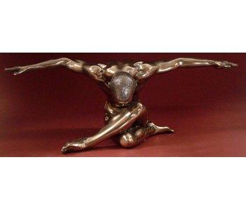 BodyTalk Bodybuilder naaktsculptuur - vlinder - L