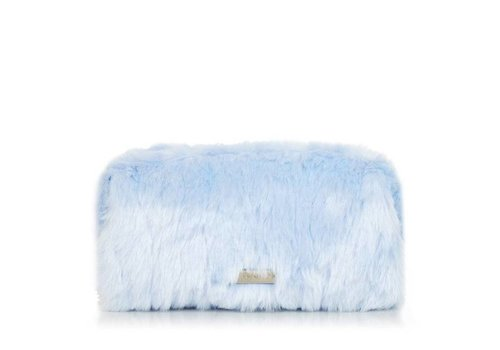 Skinny Dip London Sky Blue Fur Make Up Bag