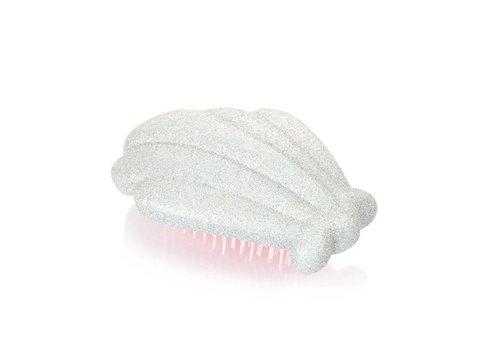 Skinny Dip London Silver Glitter Shell Hair Brush