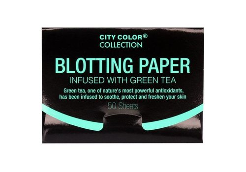 City Color Blotting Paper Green Tea