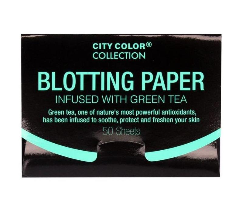 City Color Blotting Paper Infused with Green Tea