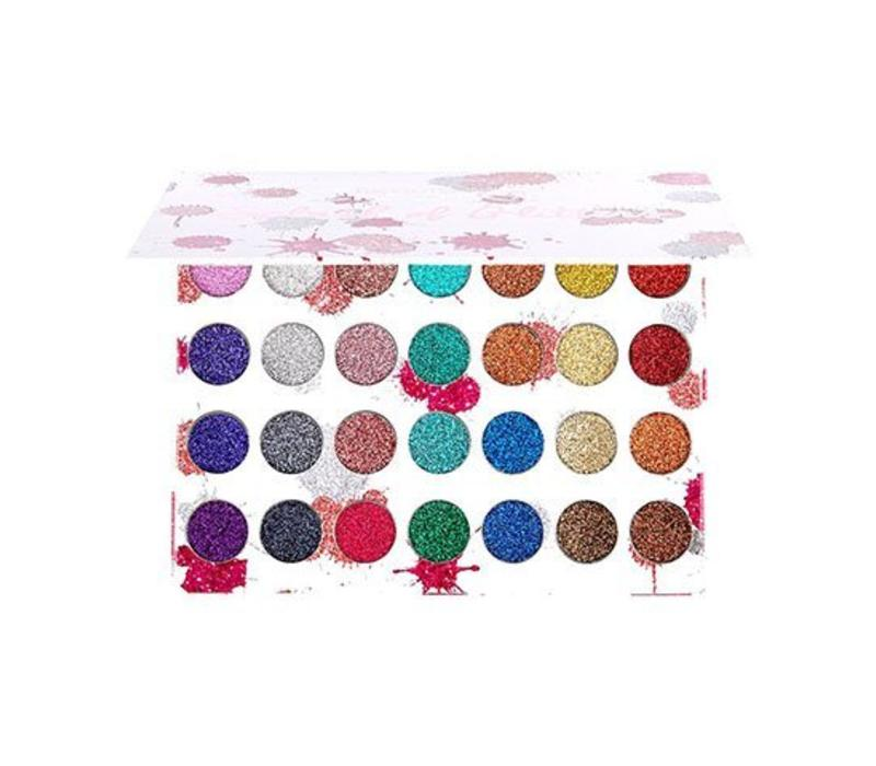 Beauty Creations 28 Color Splash of Glitter Palette