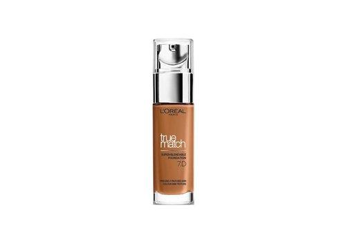 L'Oréal Paris True Match Foundation 7D/W Golden Amber