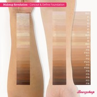 Makeup Revolution Conceal & Define Foundation F17