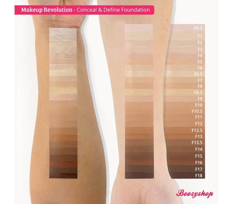 Makeup Revolution Conceal & Define Foundation F4