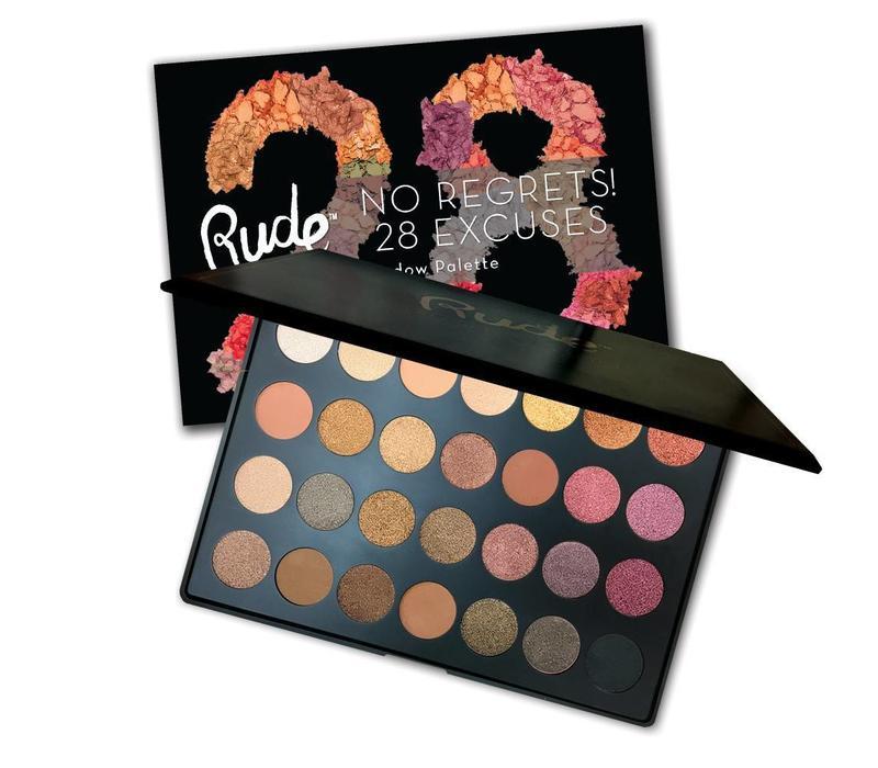 Rude Cosmetics No Regrets! 28 Excuses Eyeshadow Palette Scorpio