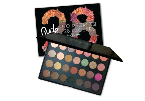 Rude Cosmetics No Regrets! 28 Excuses Eyeshadow Palette Virgo