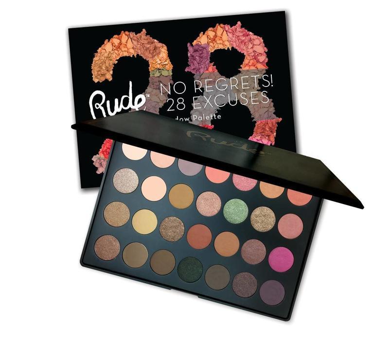 Rude Cosmetics No Regrets! 28 Excuses Eyeshadow Palette Virgo