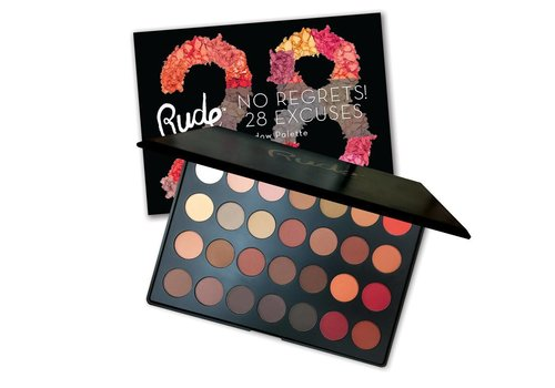 Rude Cosmetics No Regrets! 28 Excuses Eyeshadow Palette Leo Matte