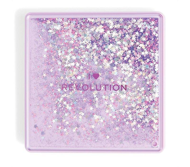 I Heart Revolution Glitter Eyeshadow Palette Fortune Seeker