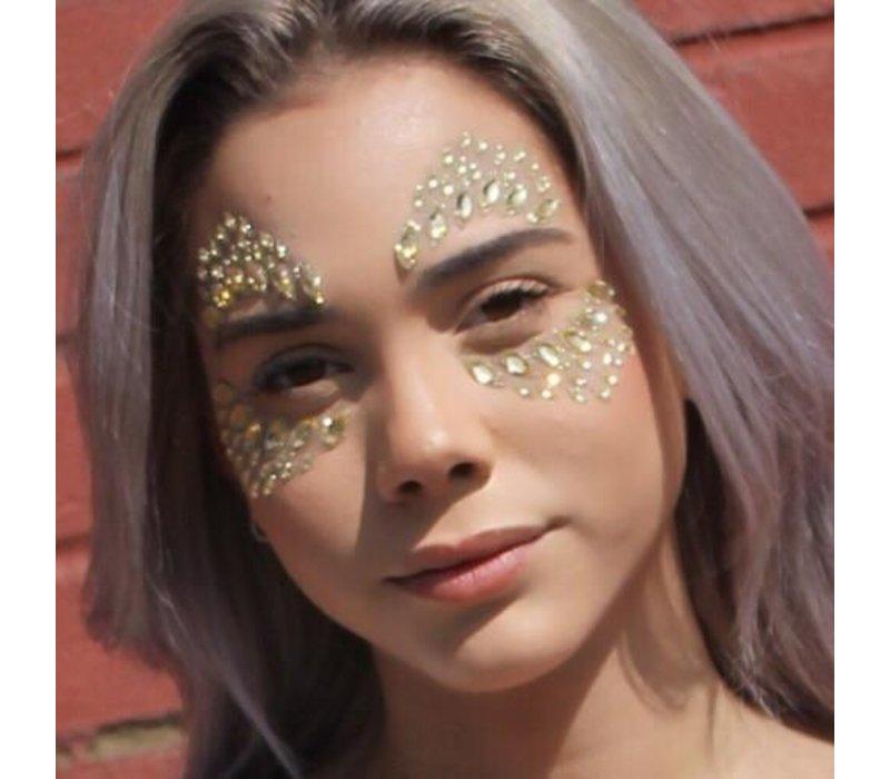 Festival Face Face Gems Glitter Azra Gold