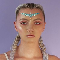 In Your Dreams Jewelled Headpiece Blue Ariel Shell