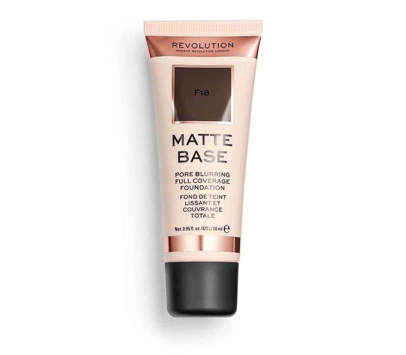 Makeup Revolution Matte Base Foundation F18