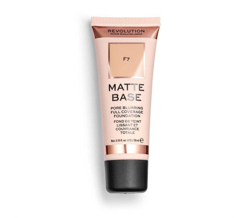 Makeup Revolution Matte Base Foundation F7