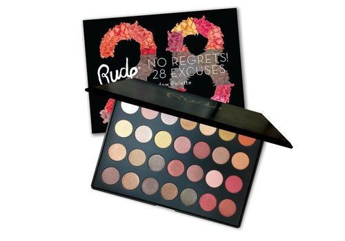 Rude Cosmetics No Regrets! 28 Excuses Eyeshadow Palette Leo Shimmer