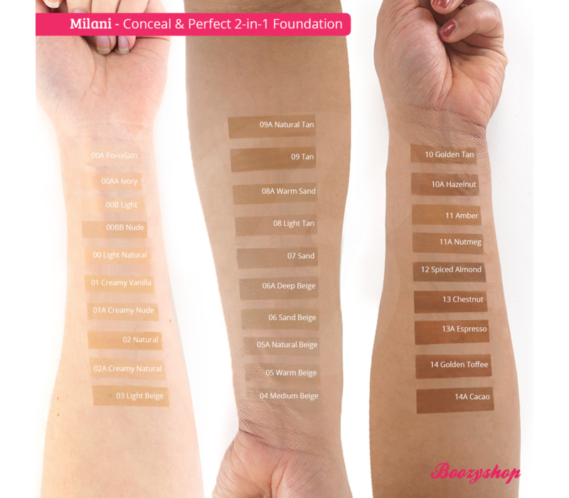 Milani Conceal & Perfect 2-in-1 Foundation and Concealer 14A Cacao