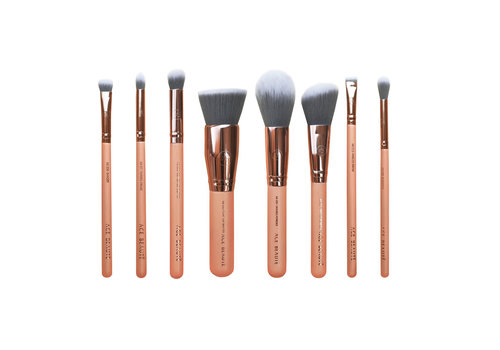 Ace Beauté 8 Piece Brush Set and Velvet Pouch