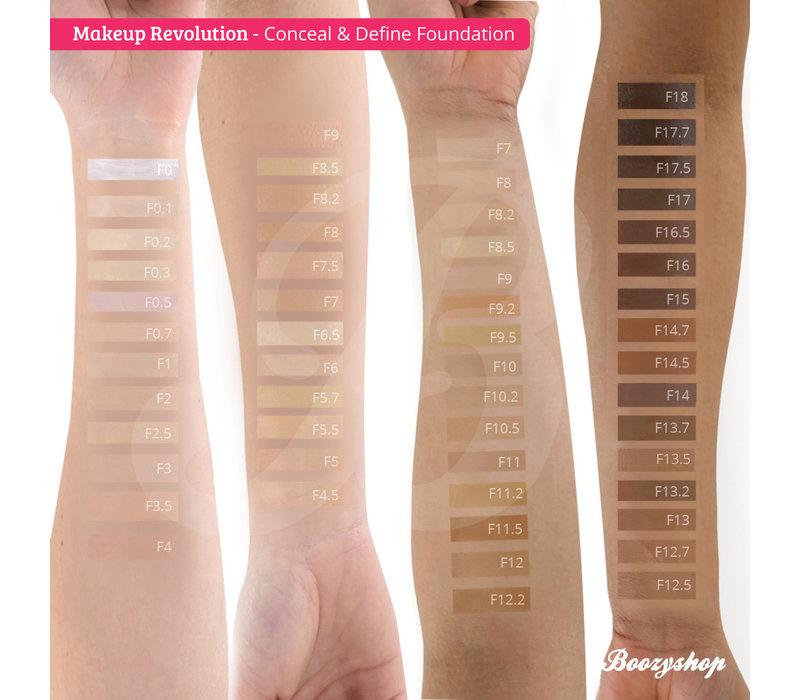 Makeup Revolution Conceal & Define Foundation