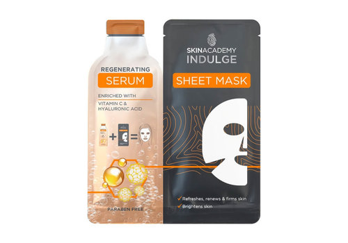 Skin Academy Indulge Regenerating Serum Sheet Mask