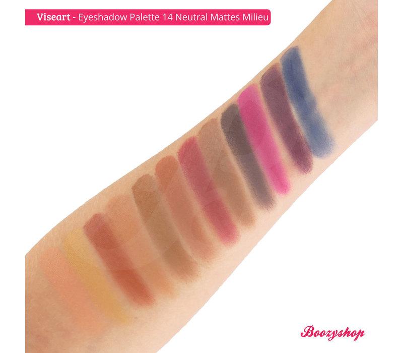 Viseart Eyeshadow Palette 14 Neutral Mattes Milieu