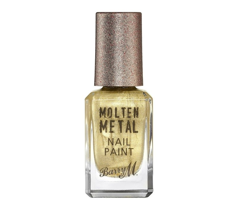 Barry M Molten Metal Nail Paint Gold Digger