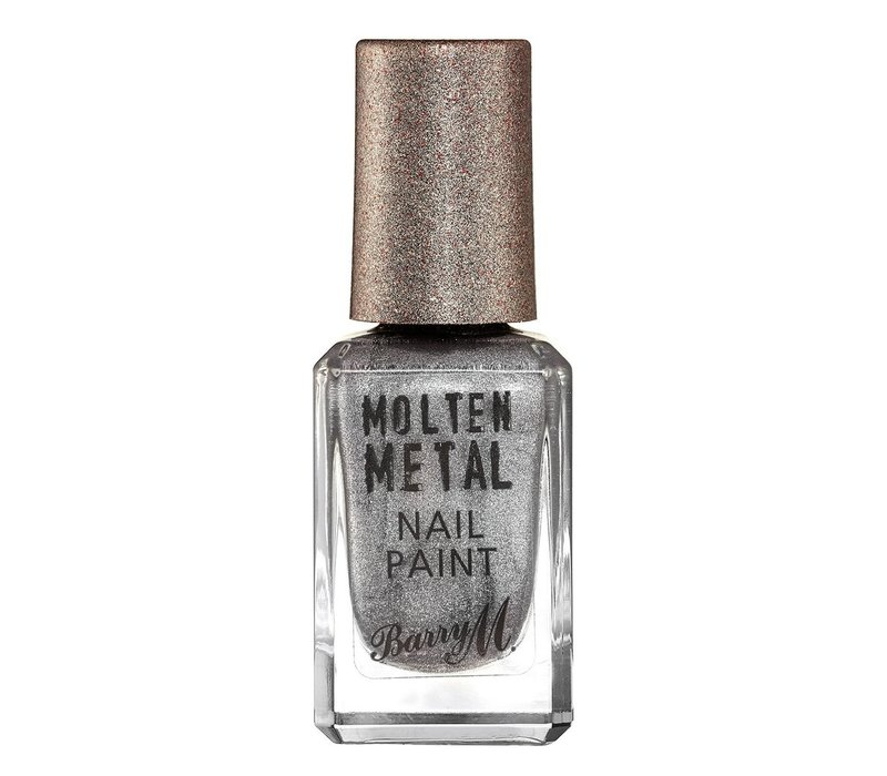 Barry M Molten Metal Nail Paint Silver Lining